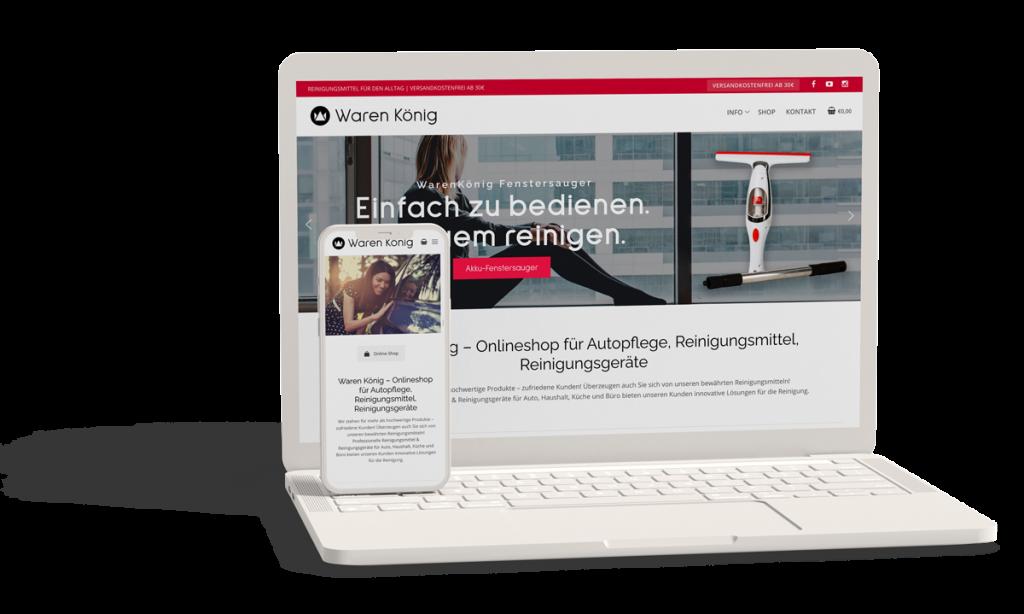 Onlineshop, Webseite Haushaltsreiniger